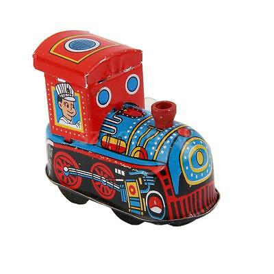 Vintaege Wind Up Steam Locomotive Train Clockwork Toy Kids Boys Xmas Gift