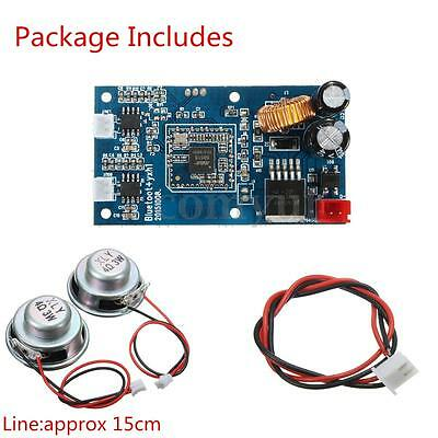 Bluetooth Audio Amplifier Receiver Board+2xSpeakers W/Line Kits For Balance Car