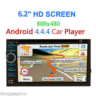 "6.5"" Android 4.4.4 Quad Core Car 2 DIN DVD GPS Navigation Lecteur Bluetooth WIFI"