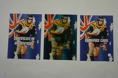 1996 Rugby League National Heroes Signature card Steve Renouf #865