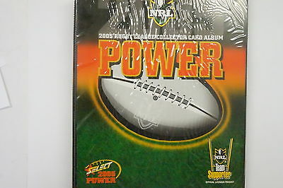 2005 Rugby League Power set of 181 common cards, 20 insert cards and album