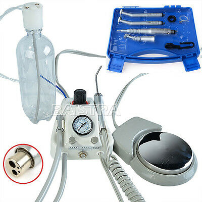 Ger Dental Turbine with 3 way Syringe + 4 Holes High & Low Speed Handpiece Kit