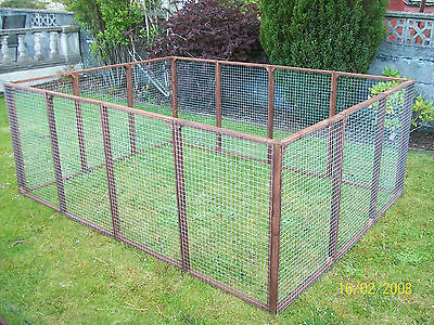 12 aviary panels run Chicken Kennel Ducklings Rabbits  Cage Cat Dog  Fencing
