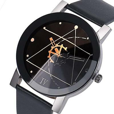 Fashion Womens Sport Watch Stainless Steel Leather Quartz Analog Casual Watches