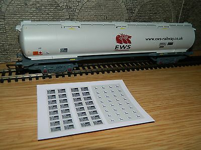 Alternative numbers Decals for Hornby EWS TEA Bogie Tanker wagon OO Gauge