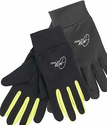 NEW Time to Run Thermal Winter Reflective Running Full Finger Fast Dry Gloves