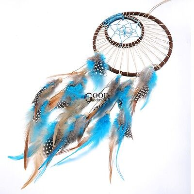Wall Hanging Decoration Dream Catcher with Feathers Car Ornament Gift TXGT