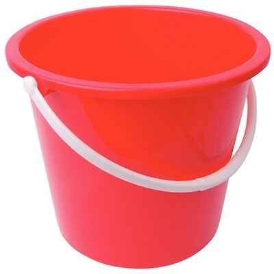 Jantex Round Plastic Bucket Red 10Ltr /Commercial Restaurant Hotel B&B Cafe