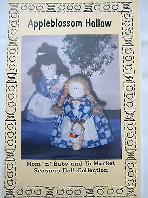 """"""" MUM & BABY TO MARKET """"  Cloth Doll  PATTERN  by  Appleblossom Hollow"""