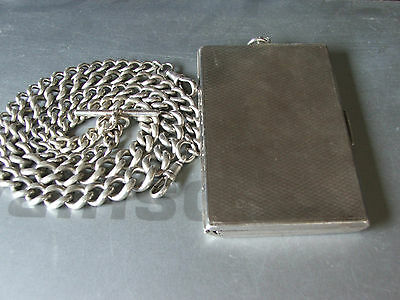 Dandy,Steampunk Goth Solid Silver Double Albert+Billfold  235g Chester1928 £295.
