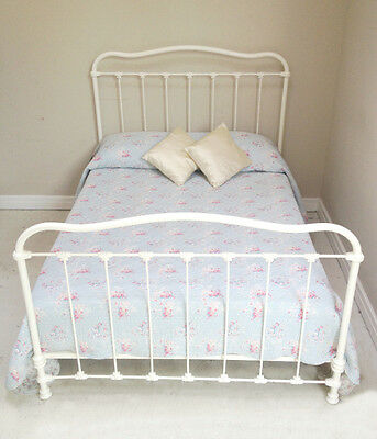 Wonderful Antique French Iron Double Bed - c1900