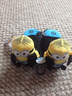 Bnwt Despicable Me Stompeez Slippers. Boy Size Small 10-12.