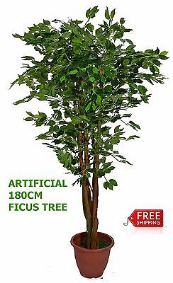 Artificial Plant Home Flower Decoration Green Ficus Silk Tree 180cm Office Decor