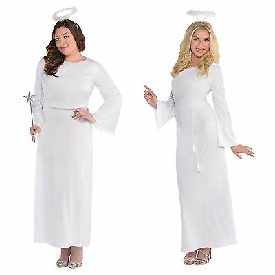 Adult 10-20 Fairy Angel Fancy Dress Costume Heaven Sent Christmas Ladies Festive