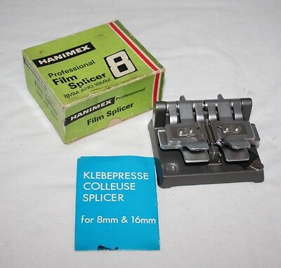 Hanimex Professional Film Splicer for 8mm & 16mm - Box/Manual - vgc