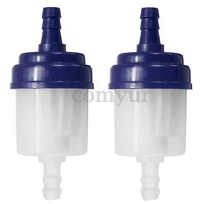 2x 6mm Universal Inline Petrol Fuel Filter Fit Motorcycle Pit Dirt Bike Scooter