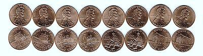 2009 Brilliant Uncirculated All 8 P & D Special Commemorative One Cent Coins!