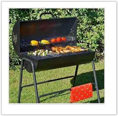 Garden BBQ Grill Charcoal Barbecue Smoker & Cover Portable Outdoor Cooking Patio