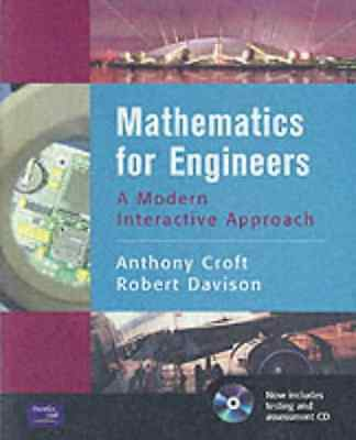 Mathematics for Engineers: A Modern Interactive Approach, Good Condition Book, D