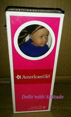 """NEW IN BOX American Girl Mini 6.5"""" Doll Saige and Book 2013 Doll of the Year"""