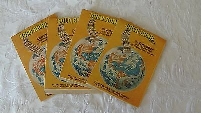 GOLD BOND four savers stamp books circa 1970s-80s NOT USED