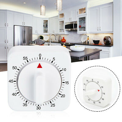 Square 60 Minute Mechanical Kitchen Cooking Timer Alarm Clock Food Preparation