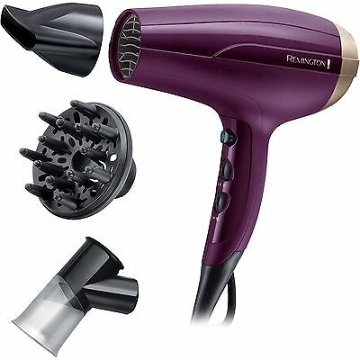 Remington Your Style Womens Ionic Hair Dryer 2300W w/ Spin Curl & Diffuser D5219