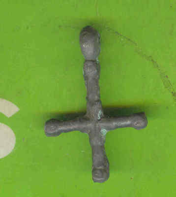 5982 Ancient Viking Bronze Cross Pendant Kievan Russia Ukraine ca 1100 Byzantine