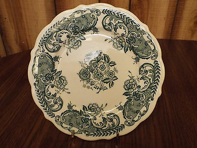 "Syracuse China Green Floral Plate 8 1/4"" USA"