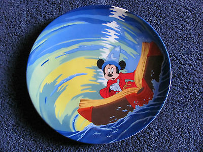 """Walt Disney Knowles Fantasia """" Mickey's Magical Whirlpool """" Collector's Plate"""