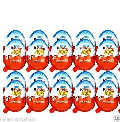 80x Kinder JOY Surprise Eggs, Ferrero Kinder Choclate Best Gift Toys - For BOY…