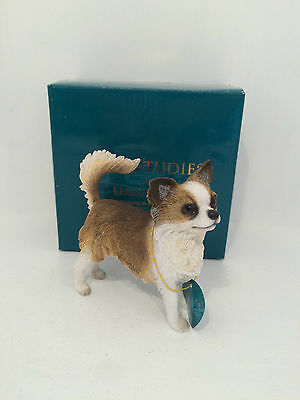 Dog Studies by Leonardo Long Haired Chihuahua Figurine Ornament BRAND NEW BOXED
