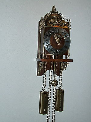 Rare Beautiful Vintage Warmink Dutch Lantern Wall Clock