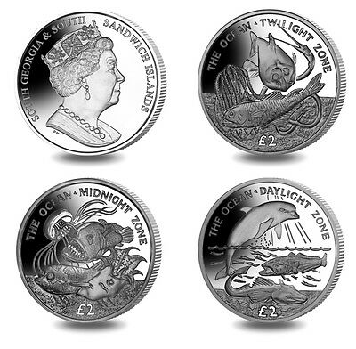 South Georgia Ocean Zones 2016 Proof Sterling Silver £2 Coin Set