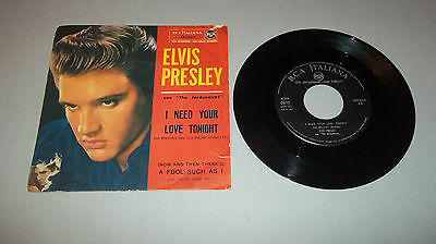 Elvis Presley I Need Your Love Tonight / A Fool Such As I