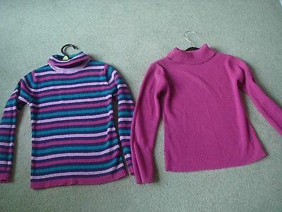 Girls set of 2 polo neck jumpers size 7 years