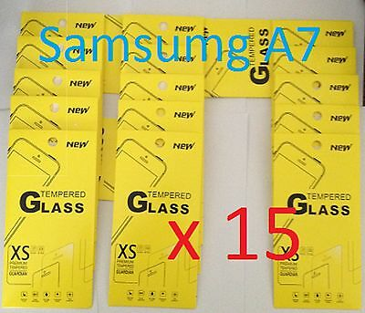 Joblot of 15 pcs - Tempered Glass Screen Protector for Samsung A7 (2016) *NEW*