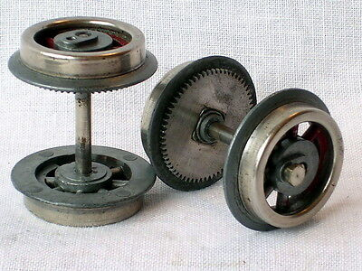 Lionel 0 Gauge Spares  2 x Pairs Locomotive Wheels & Axles.