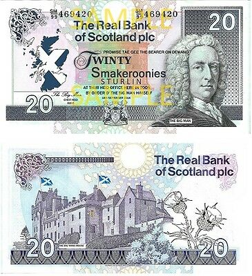 Scottish Novelty Bank Notes Smakeroonies!  As Suggested By Kevin Bridges