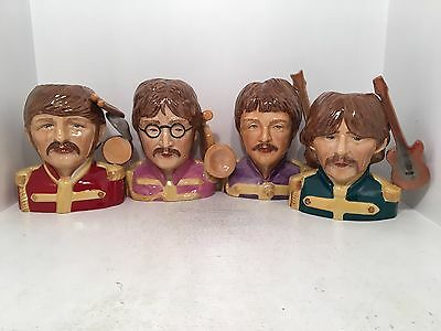 Peggy Davies The Beatles Sergeant Pepper Toby Jugs Artist Proof RARE *MINT*