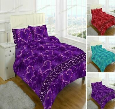 Jasmin Duvet Quilt Cover with Pillow case  Bedding Set Single Double King Size