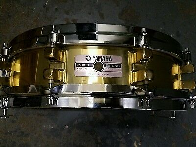 "Yamaha SEAMLESS BRASS snare drum 3.5""x14"":TOUGH TO FIND! $$"