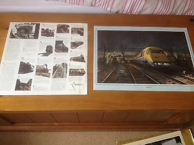 Large collection (12) of Terence Cuneo Train And  Railway prints