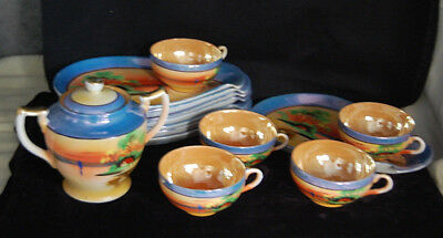 TT Takito Hand Painted Japanese Lusterware Snack Set for 5+ [M4399]