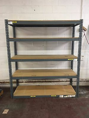 "Lot of (5) - Industrial Shelving Unit Storage 5 Shelf Heavy Duty  24""x60""x84"""