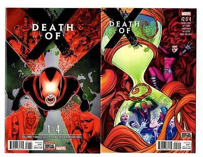 Death of X #1-4 Complete Set (2016) Marvel VF/NM to NM