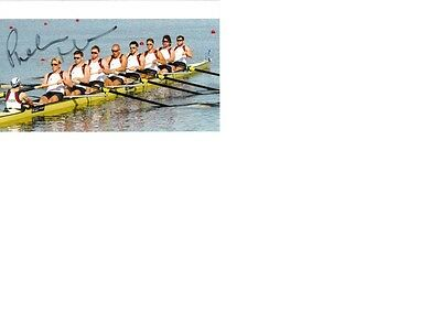 Olympic Champion 2016 Rio&Bronze 2012 in Rowing Phelan Hill signed 10x15 photo.