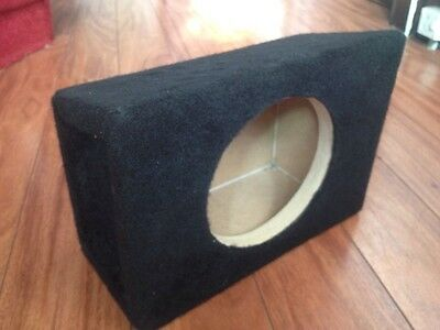"""PAIR of 6.5"""" BOX ENCLOSURES FOR 6.5"""" CAR AUDIO SPEAKERS (x2 BOXES) BASS BOX"""