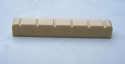 Acoustic Guitar Nut Cream-Coloured 43mm x 6 x 8.3 to 7.4mm