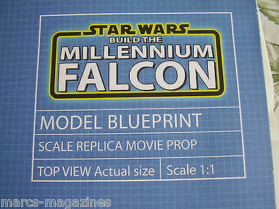 Deagostini Star Wars Build The Millennium Falcon Blueprint Scale 1:1